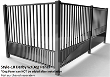 Specrail Derby Aluminum Fencing with Dog Panel