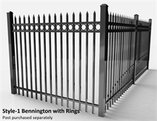 Residential Bennington Specrail Fence with Rings