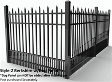 Specrail Berkshire Aluminum Fence with Dog Panel