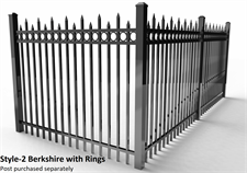 Specrail Bekrhisre Fence with Rings
