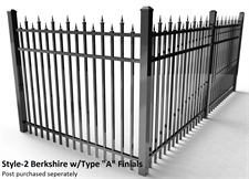Specrail Berkshire Aluminum Fence with Type A Finials