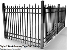 Specrail Berkshire Aluminum Fence with Type B Finials