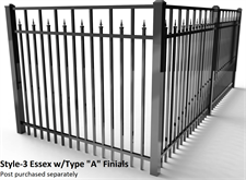 "Specrail Essex Aluminum Fence with Type ""A"" Finials"