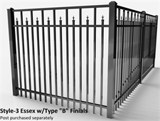 "Specrail Essex Aluminum Fence with Type ""B"" Finials"